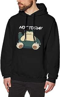 Valanza Snorlax Not Today Men's Casual Long Sleeve Fleece Sweatshirt Pullover