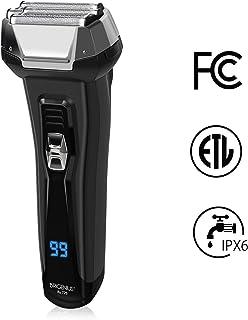 BriGenius Men's Electric Foil Shaver, USB Rechargeable Cordless Electric Razor with Pop-Up Beard Trimmer, Wet Dry Shaver 3 Blades