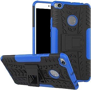 Xiaomi Mi Max 2 - Heavy Duty Armor Hybrid ShockProof Hard Back Stand Case Cover -Blue