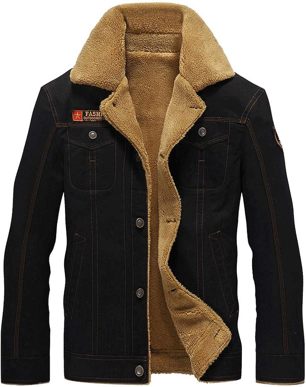 Haellun Men's Winter Warm Padded Puffer Jacket Thick Fleece Lined Coats with Pockets