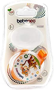 Bebeneo Soother Holder (1004) & Protector Case (2 In 1)_1011 Orange