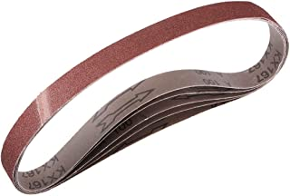 2,5 cm x 76 cm 100 korn aluminiumoxid slipbälte sandpappersbälten för bärbar slipmaskin träefterbehandling metall gipsskiv...