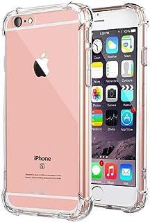 0ccc438b7 BX CASE Funda iPhone 6 / iPhone 6S Silicona [ Antigolpes - Transparente ]  Carcasa de