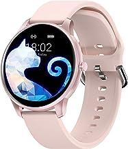 ساعت هوشمند ویژه بانوان ، ساعت هوشمند CUBOT W03 IP68 ضد آب تناسب اندام ساعت هوشمند برای تلفن های همراه آندروید iOS سازگار با آیفون سامسونگ ، مانیتور ضربان قلب گام شمار مانیتور خواب ، صورتی