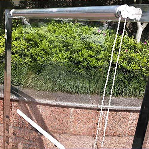 Estor Enrollable Prueba de Lluvia de Plástico Transparente Persiana, Patio al Aire Libre Invernadero Oficina Superficie de la Sala del Hotel Cortina de Recepción de Partición Interior