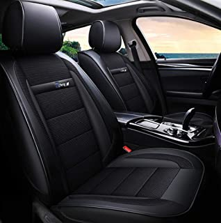 YRRC Ice Silk Car Seat Cover Leather for Volkswagen BMW E46 E60 E90 Audi A3 A4 B8 Ford Focus Fiat Skoda Rapid Accessories Car Styling,Black