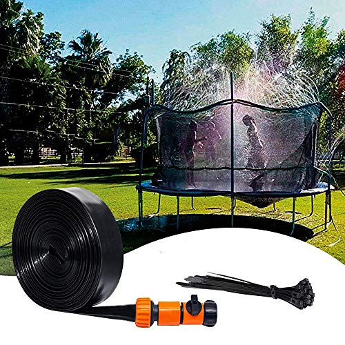 RUIZHI Sprinklers For Outside Trampoline With Enclosure Fun Summer Backyard Water Toys For Kids Boys Girls Adults(Size:12m-39.3ft)