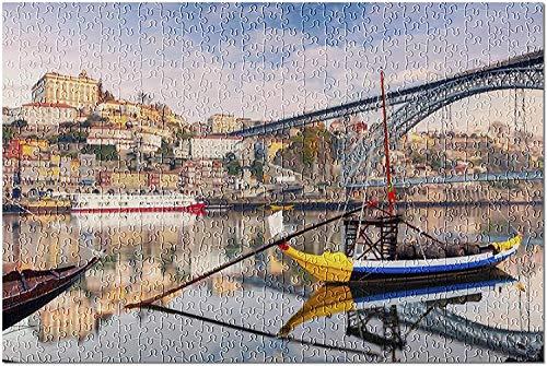 Oporto, Portugal   Amanecer en el río Duero 9032577 (Rompecabezas premium de 500 piezas para adultos y familias, 13 x 19)