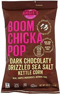 ANGIES BOOMCHICKAPOP Dark Chocolaty Drizzled Sea Salt Kettle Corn, 5.5 oz