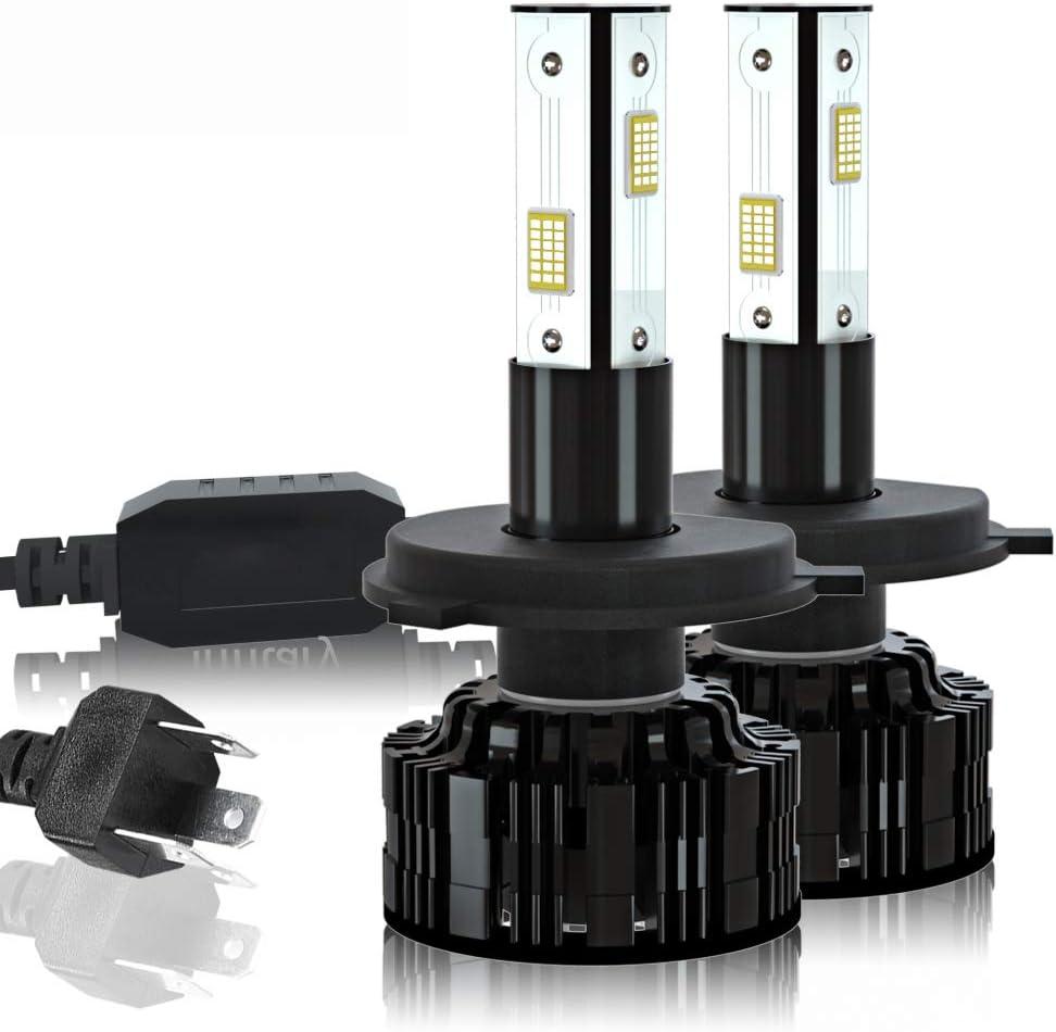 LIUXU Faros de automóviles, H4 H7 LED Bombilla de Cabeza de Coche 12V 24V 36V, 22000lm 3570 Fijo H1 H3 H1 9005 9006 HB4 con Luces de Niebla automáticas
