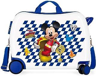 Disney Mickey Good Mood Maleta Infantil Multicolor 50x38x20 cms Rígida ABS Cierre combinación 34L 2,1Kgs 4 Ruedas Equipaje...