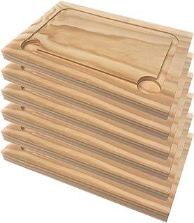 Artema - Assiette en Bois - Planches à Découper - Peuvent être Utilisées Comme Plats De Service - Set 6 pcs - 30*20 cm