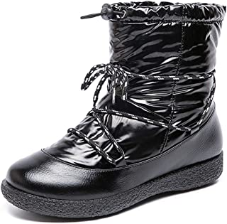Lewhosy Winter Snow Boots for Women Waterproof Ankle Booties Slip On Warm Fur Lined Outdoor Shoes