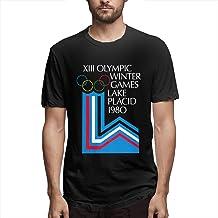 DFKJDSG Lake Placid 1980 Winter Olympics T-Shirt Short Sleeve Fashion Tee