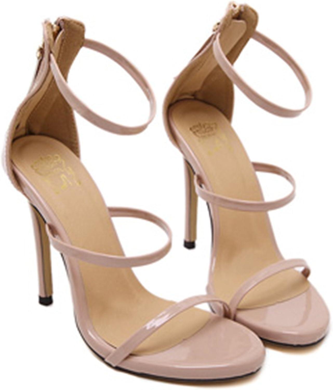 Heels Woman shoes Metallic Strappy Platform Gladiator Sandals 4-12