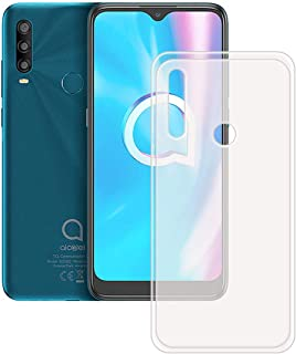 FZZ Slim Thin Translucent Case for Alcatel 1 SP, Soft Protective Phone Cover With Flexible TPU Protection Bumper Shell for...