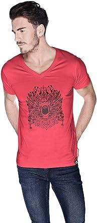 Creo Open Skull Bikers T-Shirt For Men - S