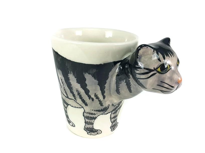 仕立て屋圧縮打ち負かすGiantマグ猫puss Pussy Mugエナメルペイントミルクガラスコーヒーカップかわいい陶器マグカップMug設定漫画アニメティーカップSpirit Animal For Kid