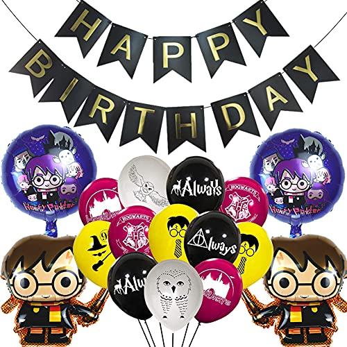 Decoracion de Fiesta Mago, Artículos de Fiesta para Harry Potter Harry Potter Cumpleaños Decoración Banner Globos Mago Cumpleaños Fiesta Decoracion Temática