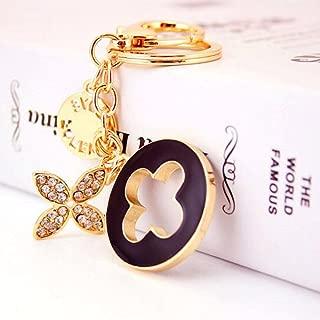 Jzcky Shzrp Four-Leaf Clover Crystal Rhinestone Keychain Key Chain Sparkling Key Ring Charm Purse Pendant Handbag Bag Decoration Holiday Gift