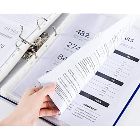 ❤️Clear Plastic Sheet Page Protectors 20 Pcs Cover Sleeves Fits 3-ring Binder