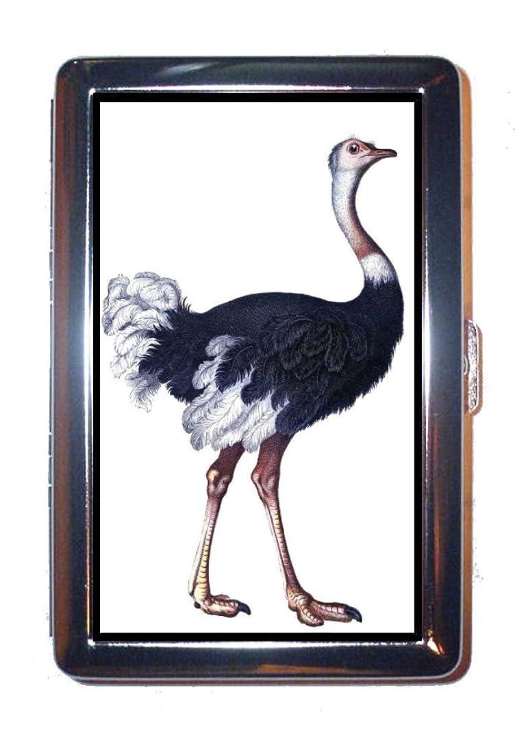細心のハンサム真鍮オストリッチカラーVictorian Nice Naturalistアート:ステンレススチールIDまたはCigarettesケース( Kingサイズまたは100?mm )