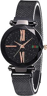 Houshome Women Fashion Elegant Luxury Starry Sky Quartz Watch Lady Magnetic Band Jewelry Wristwatch