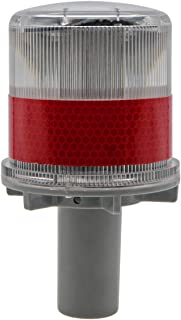 Penck Solar LED Warning Light Waterproof Driveway Lights Flashing Barricade Light Road Construction Safety Signs Flash Tra...