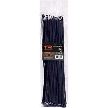 UV Black Midland 95611 Truck and Trailer Nylon Cable Tie Strap 50lb Strength, 14 Length