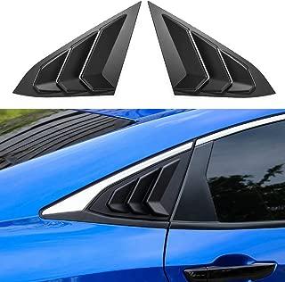 LEIWOOR 1 Pair Side Mesh Cover Universal Shark Gills Auto Sticker Hood Bonnet Car False Air Outlet Decoration Stickers Black