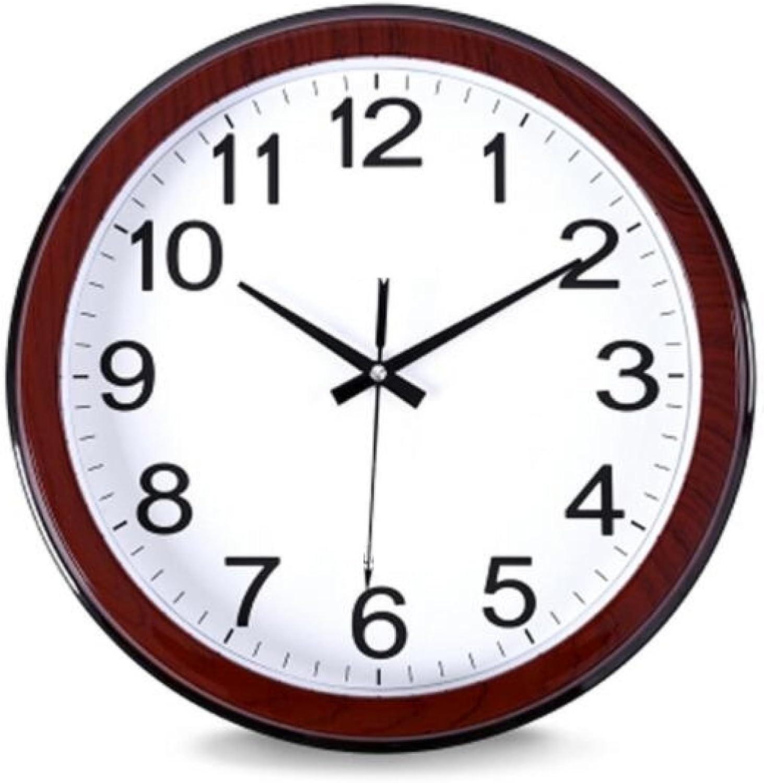 16 Inch Wall Clock Round Living Room Clock Modern Silent Hanging Table Quiet Clock Quartz Clock,A2