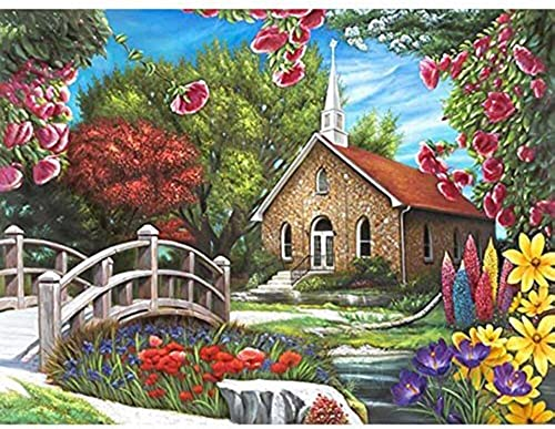 Puzzle Collector Art 500 Piece Puzzle - Serenity Church by Lafayette Puzzle Factory