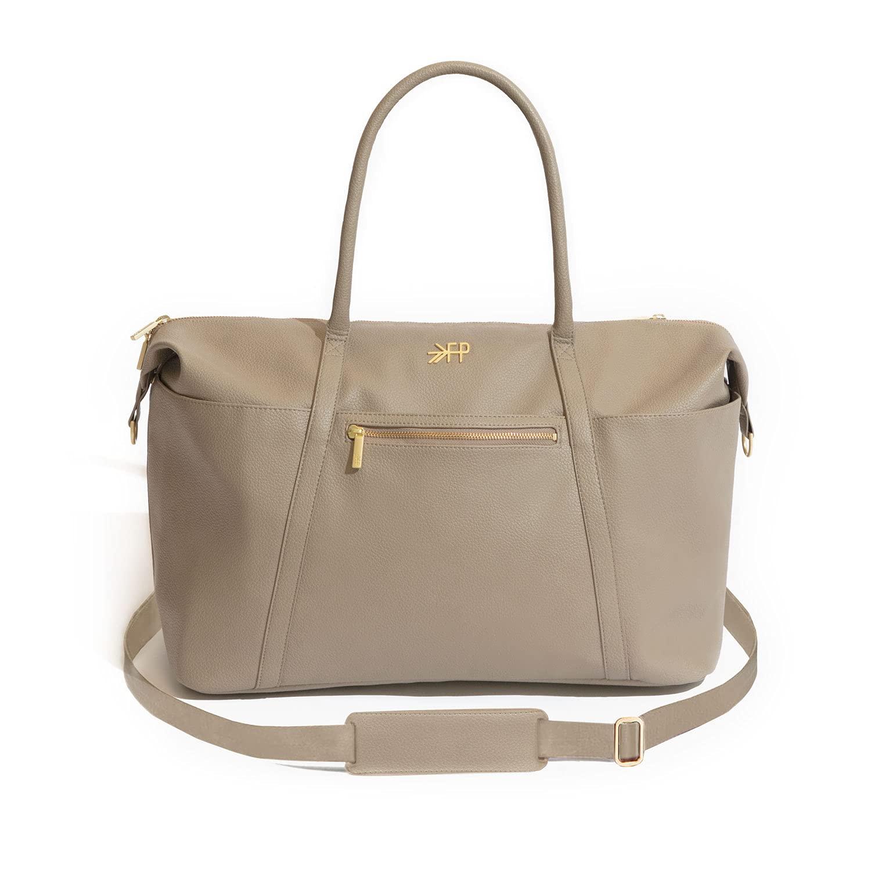 Freshly Picked - Weekender Diaper Bag Backpack - Large Internal Storage 10 Pockets Wipeable Vegan Leather - Aspen