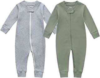 Organic Cotton Baby Boy Girl Zip up Sleep N Play,...