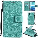 Ooboom® Huawei ShotX Hülle Sonnenblume Muster Flip PU