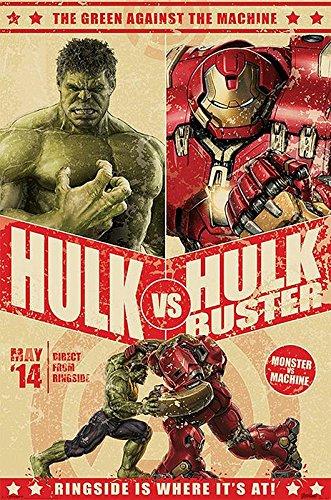 Poster d'Avengers, L'ére d'Ultron. Hulk vs. Hulk Buster (61cm x 91,5cm)