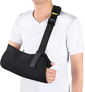 Medical Arm Sling, Breathable Mesh Arm Support Shoulder Immobilizer with Adjustable Strap for Fractured Bones, Broken Shoulder, Elbow, Arm Injury Recovery, Left or Right Arm