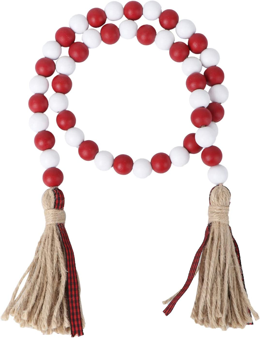 VALICLUD Super special price Wood Bead Garland with Tassels Farmhouse Sale special price Tassel Ha
