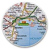 Impresionantes pegatinas de vinilo (juego de 2) 30 cm – Penzance Town England UK GB Fun Decals para portátiles, tabletas, equipaje, reserva de chatarras, neveras, regalo fresco #46012