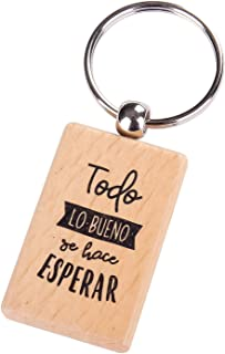 Llavero de Madera Bodas, BAUTIZOS, COMUNIONES con Frases Todo LO Bueno - Llaveros con Frases Originales Bodas, Bautizos, Comuniones y Cumpleaños.