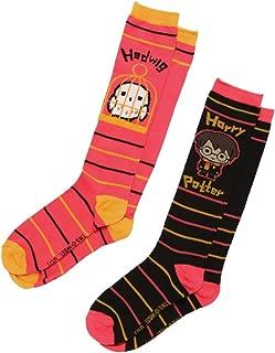 Harry Potter Chibi Harry & Hedwig 2-pack Knee High Adult Socks