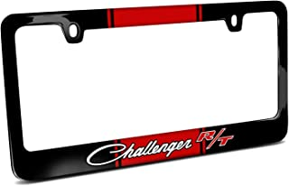 First Rober Jeep Rubicon Green Stripe Cover Chrome Black Metal License Plate Frame Holder, 12