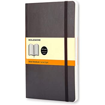 "Moleskine Classic Notebook, Soft Cover, Pocket (3.5"" x 5.5"") Ruled/Lined, Black, 192 Pages"