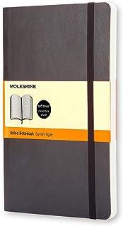 Moleskine S07100 Classic Soft Cover Notebook- Ruled- Pocket- Black, (QP611)