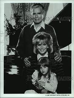 Vintage Photos 1987 Press Photo John Forsythe, Linda Evans, and Jessica Player on Dynasty