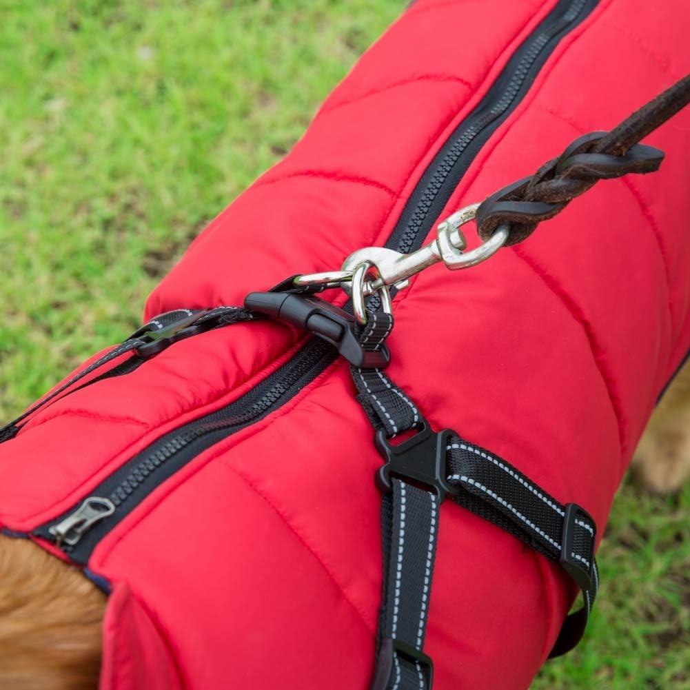 Savlot Hundejacke Winterweste Jacken Hundemantel Hundepullover Haustier Skifahren Kost/üm /Ärmellose Baumwolle Gepolsterte Weste Mit Brustgurt Gurt