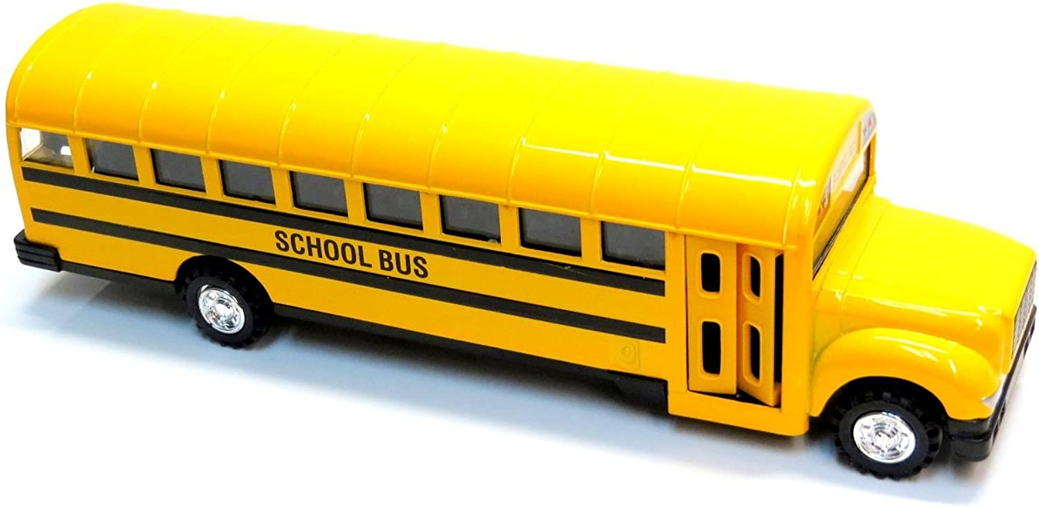 8.5 Diecast School Bus with Pullback Action by DieCast