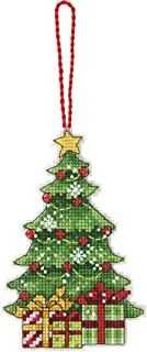 Dimensions Counted Cross Stitch Christmas Tree Ornament Kit, 3'' W x 4.75'' H