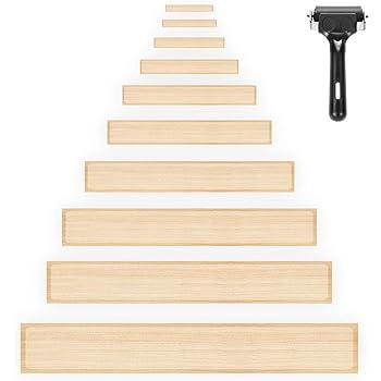 HBselect Tiras Antideslizantes Escaleras Transparente 15 pcs, Pegatinas Antideslizantes De Escalera con Herramienta de instalación Rodillo: Amazon.es: Hogar