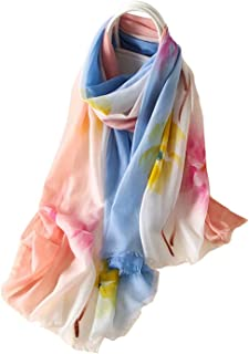 HangErFeng Scarf Wool Chinese Traditional Water Ink Print Hair Scarf Shawls Christmas New Year Valentine gift packaging